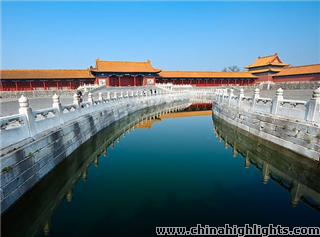 The moat at Forbidden City
