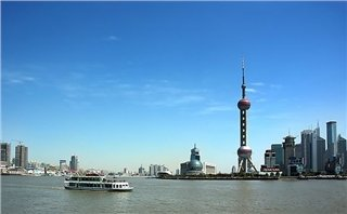 Oriental Pearl TV Tower in Shanghai