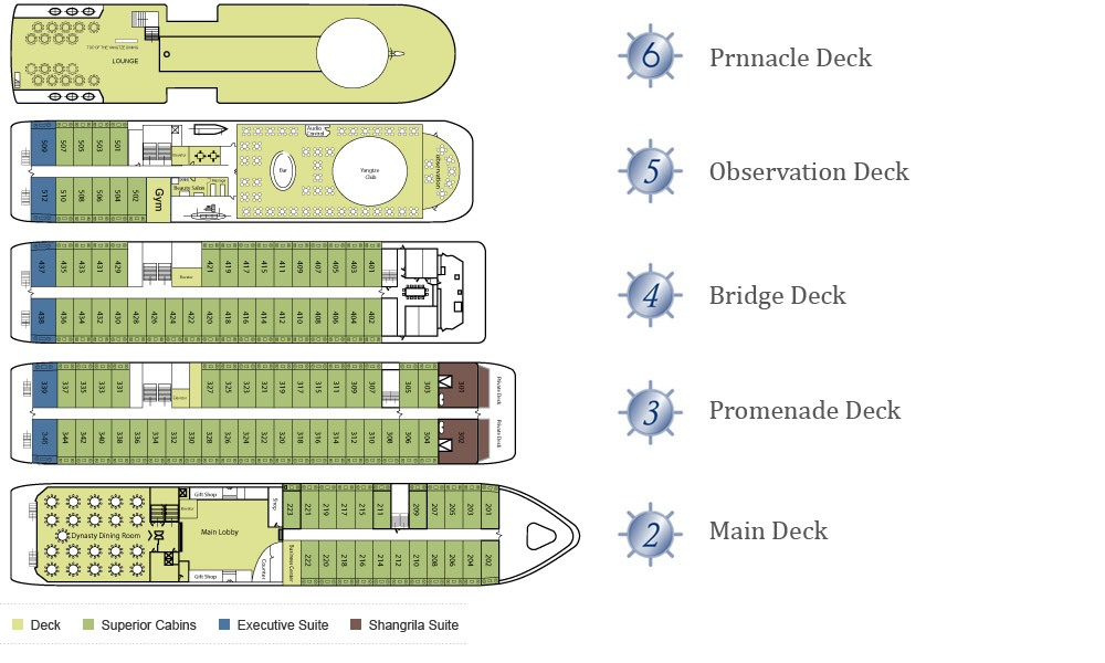 Victoria Selina Deck Plan